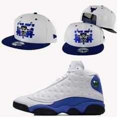 d0d5a6ec1986 Matching New Era Chicago Bulls Puzzle Snapback Hat for Jordan 13 Hyper Blue