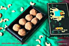 #Aata #ladoo with #coconut #sugar Recipe by Nithya Ravi on Plattershare