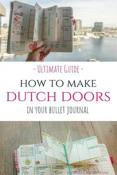Junkies' Ultimate Guide to Dutch Door Layouts in your Bullet Journal. Great for weekly or monthly spreads!Journal Junkies' Ultimate Guide to Dutch Door Layouts in your Bullet Journal. Great for weekly or monthly spreads!