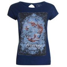Firetrap | Firetrap Graphic Tee Ladies | Ladies T Shirts