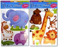 Safari Animals Jungle Rainforest Wall Stickers Decals Kids Room Decor