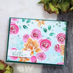 Popping in with a card to share using my Simon Says Stamp October Card Kit! I am also playing along with a coup. Card Making Inspiration, Making Ideas, Inspiration Cards, Butterfly Cards, Flower Cards, Handmade Card Making, Handmade Cards, Diy Cards, Betty Wright