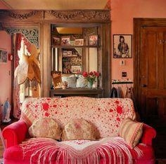 french bohemian decor - My Web Value Bohemian Interior, Bohemian Decor, Bohemian Living, French Bohemian, Living Spaces, Living Room, First Home, Interior Inspiration, Decoration