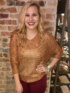 Copper Shimmer Sweater