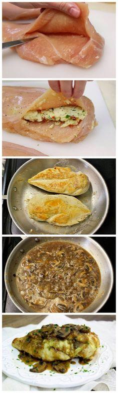 Stuffed Chicken Marsala   kitchenshares