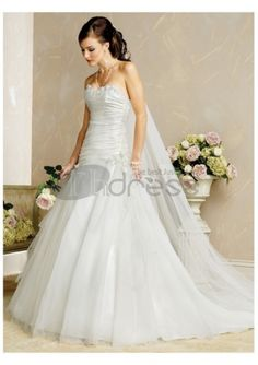 Luxury Cheap Beautiful Strapless Wedding Dresses