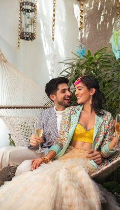 Shikha Dhandhia – Papa Don't Preach by Shubhika Dress Indian Style, Indian Fashion Dresses, Indian Designer Outfits, Fashion Outfits, Asian Fashion, Designer Dresses, Indian Wedding Outfits, Indian Outfits, Indian Attire