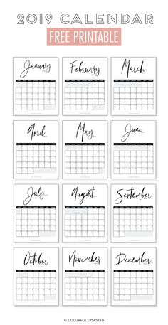 Latest Cost-Free monthly calendar 2019 printable Popular From work deadlines to family happenings and random reminders, Calendar is what keeps me on the righ Monthly Planner Printable, Monthly Calender, Calendar 2019 Printable, Print Calendar, Free Printable Calendar, Free Printables, Calendar 2019 Planner, Diy Kalender, Kalender Design