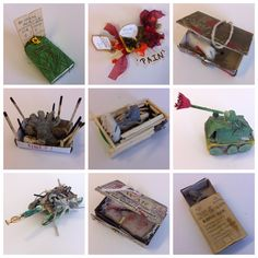 Matchbox responses to from at Norton College Project Ideas, Art Projects, Projects To Try, Classroom Projects, Classroom Ideas, Ww1 History, Holiday Program, Matchbox Art, Year 9