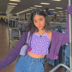 36 Stylish Fashion Outfits Ideas For Beautiful Old Styles Best Outfits Inspirations Ideas / / 36 Stylish Fashion Outfits Ideas For Beautiful Old StylesStylish Fashion Outfits Ideas Fo # Retro Outfits, Komplette Outfits, Preppy Outfits, Fashion Outfits, Purple Outfits, Summer Outfits, Fashion Clothes, 80s Inspired Outfits, Cute Vintage Outfits