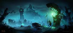 Albion Online - Lands of the Undead, Johannes Figlhuber on ArtStation at https://www.artstation.com/artwork/oWJlm