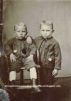 Forgotten Faces and Long Ago Places: Tintype Tuesday - Two Young 1860s Brothers