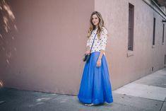 Gal Meets Glam Banana Republic - Maxi dress, sweater, blazer and flats