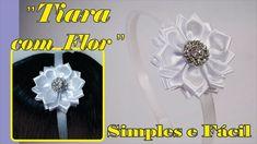 Tiara fácil de fazer com flor de cetim Satin Ribbon Flowers, Satin Ribbons, Simple Flowers, Valentines Day Weddings