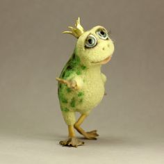 CLICK Visit link above for more info Needle Felted Animals, Felt Animals, Animals And Pets, Fuzzy Felt, Wool Felt, Felt Angel, Funny Frogs, 3d Figures, Needle Felting Tutorials