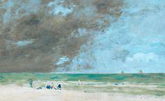 Eugène Boudin, «Beach at Trouville (2)»
