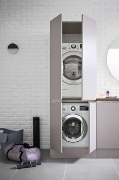 The area takes shape inside the home environment ricavandosi a well-defined space, in a functional and elegant way. Laundry Area, Laundry Room Design, Interior Stylist, Bath Decor, Bath Design, Environment, Home Appliances, House Design, Shape