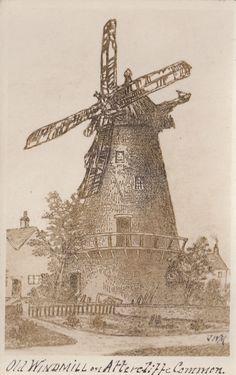 RP Postcard Sheffield, Old Windmill on Attercliffe Common JWM | eBay