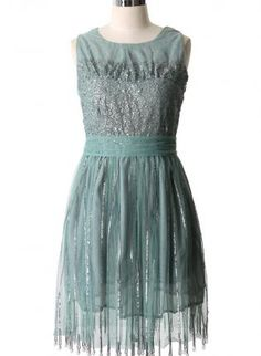 Green Tulle Dress with Sweetheart Sequin Top  Bow Back,  Dress, tulle dress  sleeveless  sequin dress, Chic