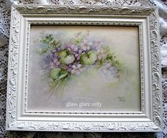 Violets Print Sonie Ames Vintage Signed from victorianroseprints on Ruby Lane