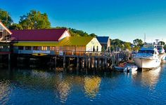 Dennett's Wharf is Castine, ME.  Enjoy lunch over the water on the deck.  I really do miss the Penobscot Bay, so beautiful.
