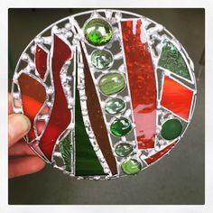 Learned the basics of decorative soldering today - really enjoyed it! #stainedglass #decorativesoldering