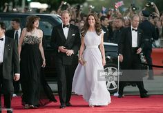 Catherine, Duchess of Cambridge and Prince William, Duke of Cambridge arrive at the 2011 BAFTA Brits To Watch Event at the Belasco Theatre on July 9, 2011 in Los Angeles, California. The newlywed Duke and Duchess of Cambridge were in attendance on the ninth day of their first joint overseas tour visiting Canada and the United States. (Photo by Mark Large - Pool/Getty Images)