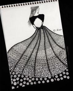 Doodle Art Drawing, Mandala Drawing, Pencil Art Drawings, Drawing S, Mandala Art Lesson, Mandala Artwork, Fashion Illustration Sketches, Fashion Sketchbook, Disney Jewelry