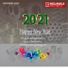 Heartly greetings to you and your family! May the year 2021 bring joy. good health, happiness and prosperity in your life..❤️🙂 Stainless Steel Pipe, Strong Relationship, Pipes, Happy New Year, Tube, Happiness, Joy, Health, Bonheur