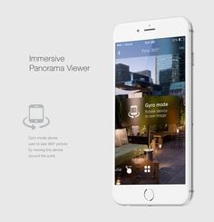 Pano 360º - UX/UI iOs app design: Gyro Mode