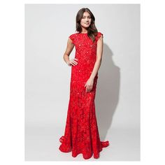 Red Lace Cocktail Dress Uk - Evening Wear