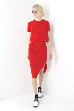 Assembly New York Bevel Dress - Red http://assemblynewyork.com/womens/assembly-new-york-bevel-dress-red.html