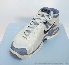 Nike Tennis Shoe Cake (tutorial)