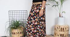 Jupe longue DIY avec du tissu viscose Posie blue de Atelier brunette Diy Tricot Gilet, Laine Rico, Elastic Waist Skirt, Marceline, Viscose Fabric, Skirts, Parfait, Inspiration, Products