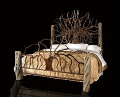 King Size Hand Made Bed by jrf0726 on Etsy
