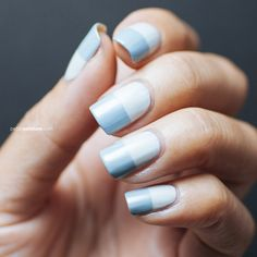Sea Spray Colorblock | Petite Peinture #nails #nailart #naildesign #sephoranailspotting #colorblock #colorblocking #seaspray #tapemani