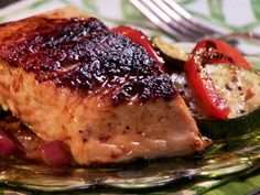 Maple and Mustard Glazed Salmon – FishRecipes.net