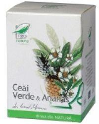 Ceai verde si ananas 20 dz Medica Pro Natura