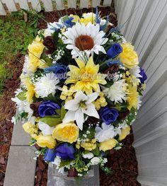 Grave Flowers, Cemetery Flowers, Silk Flowers, Cemetery Vases, Funeral Sprays, Cemetery Headstones, Memorial Flowers, Vase Arrangements, Winter Flowers
