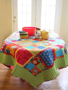 Fat Quarter 4-Patch from Think Fast! by Swirly Girls Design