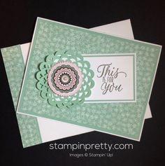 Blooms & Bliss Designer Series Paper & Tin of Tags Stamp Set thank you card.  Mary Fish, Stampin' Up! Demonstrator.  1000+ StampinUp & SUO card ideas.  Read more http://stampinpretty.com/2016/10/so-pretty-in-blooms-bliss-designer-series-paper.html