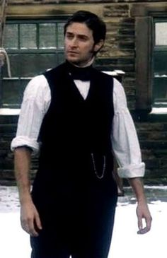 John Thornton  North and South   Higgins:  Master, will you come in?  It is stew today. Thornton: Haven't had that for awhile. Higgins: Haven't eaten all day I'll bet.  Thornton:  No, no, I've been too busy.