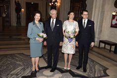 Koning Carl Gustaf, Koningin Silvia, Prinses Victoria en Prins Daniël