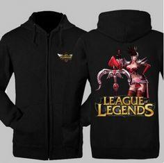 League of Legends zip up hoodies for men Vayne printed XXXL sweatshirts