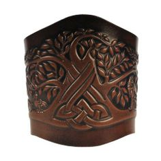 Leather Bracelet Embossed Celtic Tree of Life Antique-green with Snap Fasteners (Nickel Free) (23 Centimeters) Celtic-Craft 'Leather Bracelets'. $39.95. Width: 8 cm. Color: antique-brown. Snap Fastener: Brass, Finish antique-nickel (nickel free)