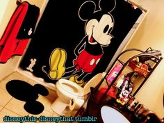 Mickey Mouse bathroom!  Very similar to what we have!  :)