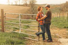 Engagement portrait photoshoot session in Wisconsin. Field. Farm. Barn. | ©2013 Dan Howard Photography