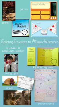 Teaching students the differences between making inferences, drawing conclusions, and predicting outcomes may be one of the most difficult skills to teach. Student Teaching, Teaching Tips, Creative Teaching, Reading Skills, Teaching Reading, Drawing Conclusions, Making Inferences, 4th Grade Reading, Context Clues
