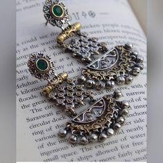 Indian Jewelry Earrings, Silver Jewellery Indian, Buy Earrings, Jewelry Design Earrings, Designer Earrings, Jewelery, Silver Jewelry, Fashion Earrings, Silver Jhumkas