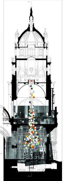 Massive Bocci Chandelier Cascades 30 Meters Down a Museum / Omer Arbel - London | My Modern Metropolis